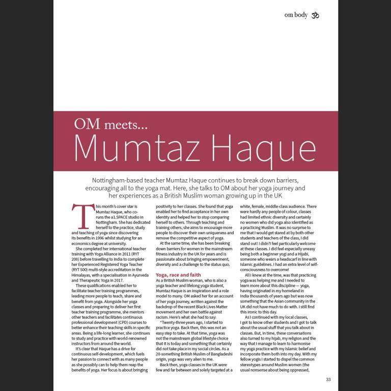 Mumtaz - OM Magazine